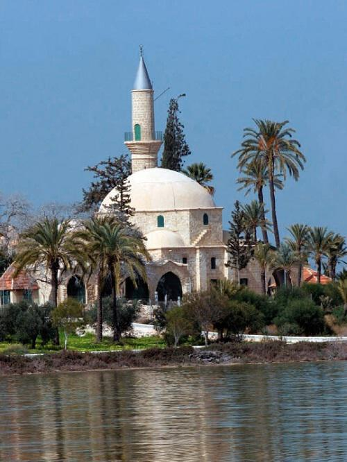 The Hala Sultan Tekke, built near the salt lake west of Larnaca