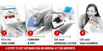 4 steps to get vietnam visa on arrival at the airports